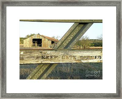 Country Quiet Framed Print