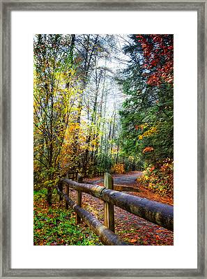 Country Rain Framed Print by Debra and Dave Vanderlaan
