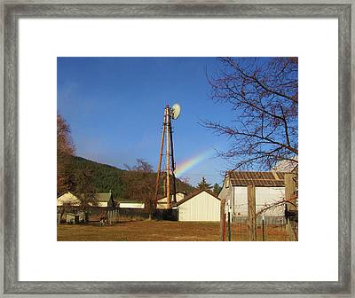 Framed Print featuring the photograph Country Rainbow by Mary Ellen Frazee