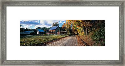 Country Road Along A Farm, Vermont, New Framed Print by Panoramic Images