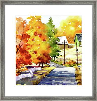 Country Road Framed Print by Art Scholz