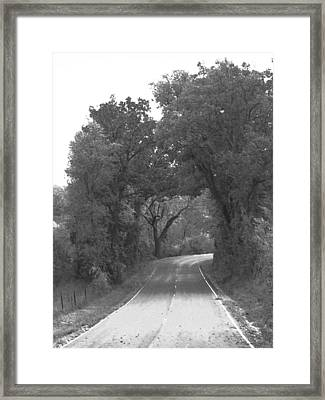 Country Road Framed Print by Audrey Venute