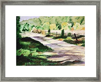 Country Road Framed Print by Christopher Reid
