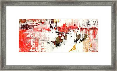 Country Road - Contemporary Bright Abstract Art Framed Print by Modern Art Prints