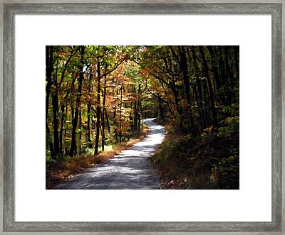 Framed Print featuring the photograph Country Road by David Dehner