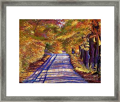 Country Road Framed Print by David Lloyd Glover
