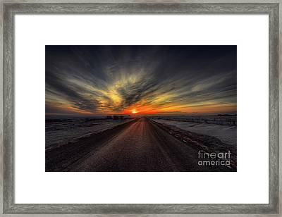 Country Road Dawn Framed Print by Ian McGregor