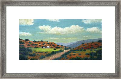 Country Road Framed Print by Gordon Beck