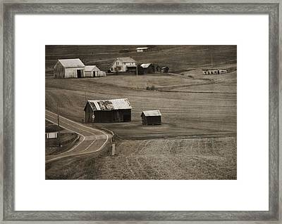Country Road Holmes County Ohio Framed Print