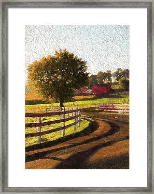 Country Road In Ohio Framed Print by Dan Sproul