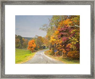 Framed Print featuring the photograph Country Road In The Fall by Diannah Lynch