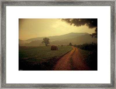 Country Road In The Mountains Framed Print by Molly Dean