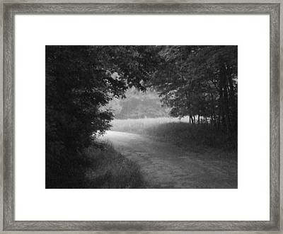 Country Road Framed Print by Michael L Kimble