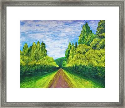 Country Road Painting Framed Print by Ankita Raut