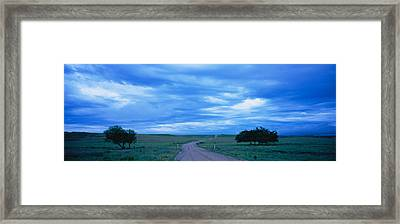 Country Road Passing Framed Print by Panoramic Images
