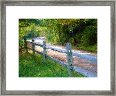 Country Road Framed Print by Ralph Liebstein