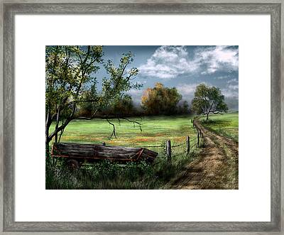 Country Road Framed Print by Ron Grafe