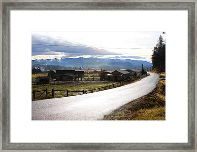 Country Road Framed Print by Sergey Nassyrov