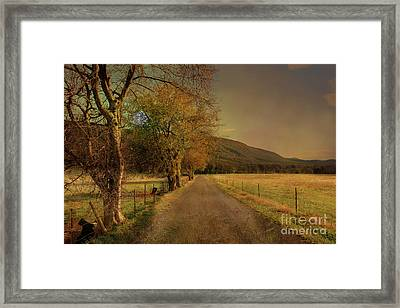 Country Road Take Me Home Framed Print