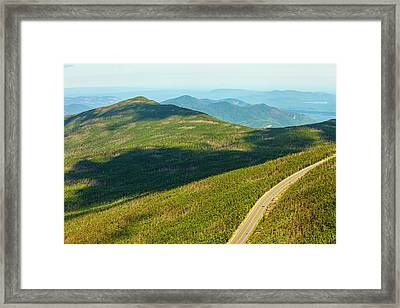 Country Road To My Home Whiteface Mountain New York Framed Print by Paul Ge
