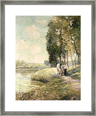 Country Road To Spuyten Framed Print by Ernest Lawson