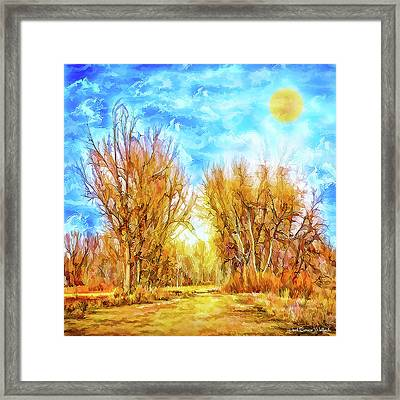 Country Road Wandering Framed Print