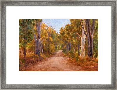 Country Roads 2  Impressionism Art Framed Print by Michelle Wrighton