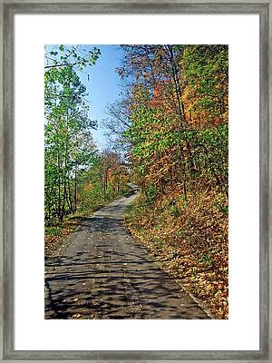 Country Roads Framed Print by Gary Wonning