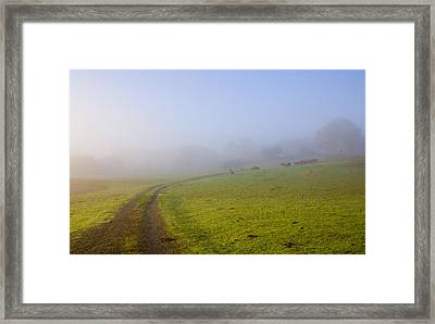 Country Roads Framed Print by Mike  Dawson