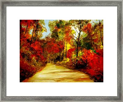 Country Roads Framed Print by Phil Burton