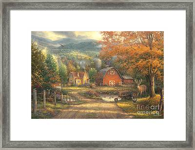 Country Roads Take Me Home Framed Print by Chuck Pinson