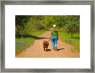 Framed Print featuring the photograph Country Roads Take Me Home by Sherri Meyer