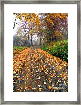 Country Roads Take Me Home Framed Print by Thomas R Fletcher