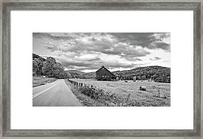 Country Road...west Virginia Bw Framed Print