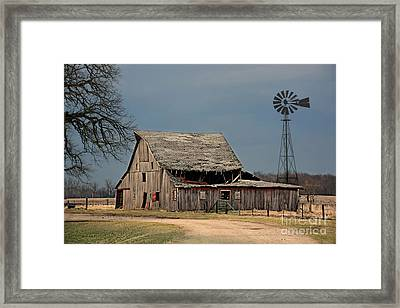 Country Roof Collapse Framed Print