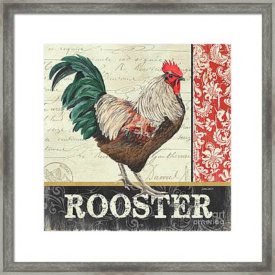 Country Rooster 1 Framed Print