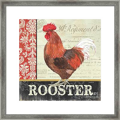 Country Rooster 2 Framed Print