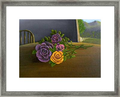 Country Roses Framed Print by Sheri Keith