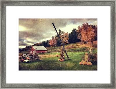 Country Scene In Autumn Framed Print by Joann Vitali