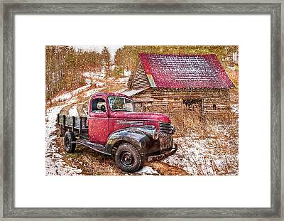 Country Scene In Winter Framed Print