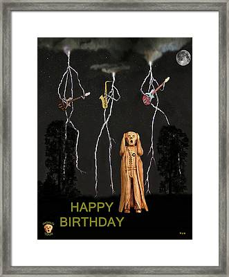 Country Scream Happy Birthday Framed Print by Eric Kempson