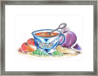 Countryside Harvest Soup Framed Print by Teresa White