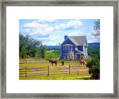 Country Splendor Framed Print by Ashley Porter