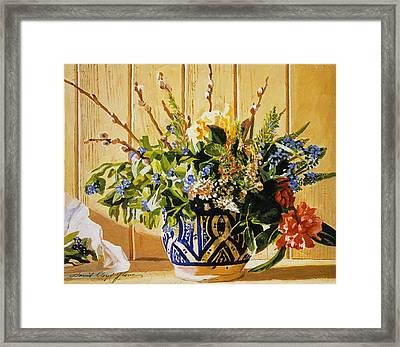 Country Spring Still Life Framed Print by David Lloyd Glover