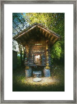 Country Storage Bin Framed Print by Marvin Spates
