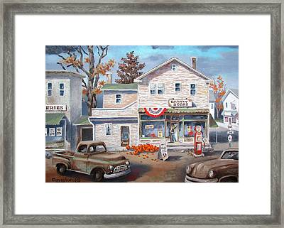 Country Store Framed Print by Tony Caviston