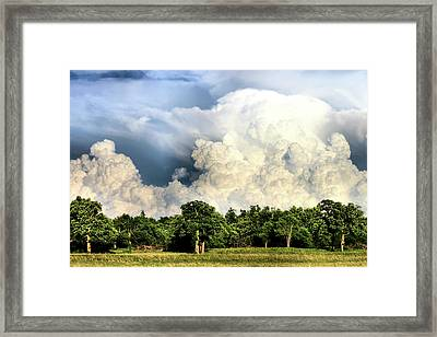 Country Storm Framed Print by Karen Scovill