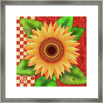 Country Sunflower Framed Print