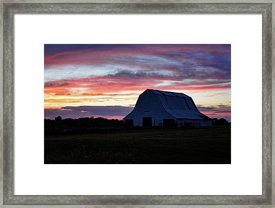 Framed Print featuring the photograph Country Sunset by Cricket Hackmann