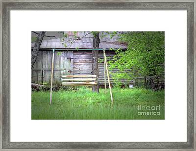 Country Swing Framed Print by Marion Johnson
